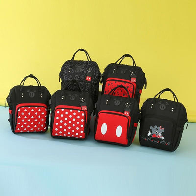 Mickey & Minnie Waterproof Multi-Function Large Capacity Backpack