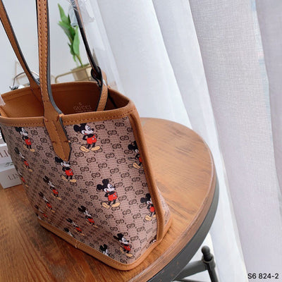 2Pcs New Mickey Leather Tote Bag *Limited Edition
