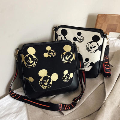 Mickey Mouse Classic Edition Leather Messenger Bag