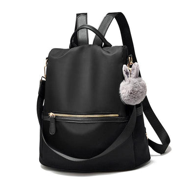 Women Fashion Waterproof Oxford Bags Solid Large Capacity Anti-theft Multifunctional Zipper Backpack