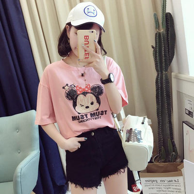 Mickey Mouse Short Sleeve T-Shirt - Shirt - ustreetstyle