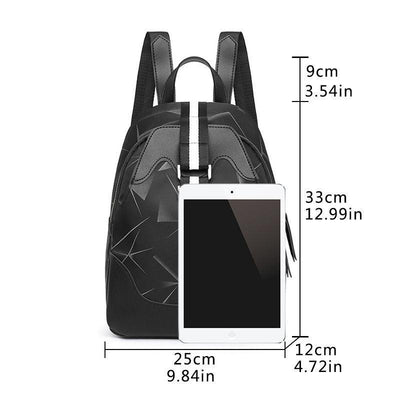 Women's Classic Waterproof Nylon Bags Anti-theft Multifunctional Large Capacity Zipper Backpack