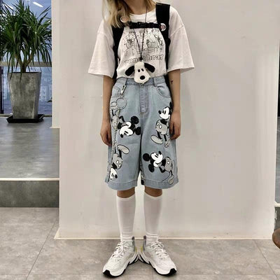 Summer 100% Cotton Mickey Shorts *New In - Pants - ustreetstyle