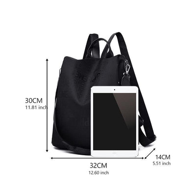 Women's Fashion Waterproof Nylon Bag Anti-theft Large Capacity Multifunctional Zipper Backpack