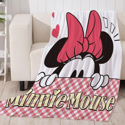 Minnie Mouse Soft Throw Blanket Fit Couch Sofa Suitable for All Season