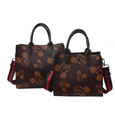 Fashion Mickey Mouse Leather Tote Bag