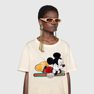 White and Pink Oversize Mickey T-shirt