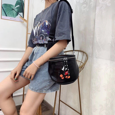 Mickey Mouse Leather Bucket Bag