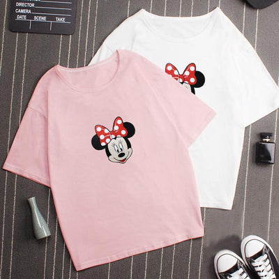 Cute Mickey Mouse Bow T-Shirt - Shirt - ustreetstyle
