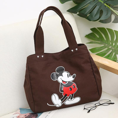 Mickey and Minnie canvas large capacity shoulder bag - Handbag - ustreetstyle