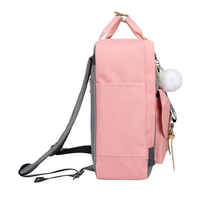 Women's Fashion Color Matching Waterproof Nylon Bag Anti-theft Multifunctional Back Trunk Cover Zipper Backpack