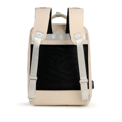 Women's Classic Solid Waterproof Oxford Bags Anti-theft Multifunctional High Quality Zipper Laptop Backpack