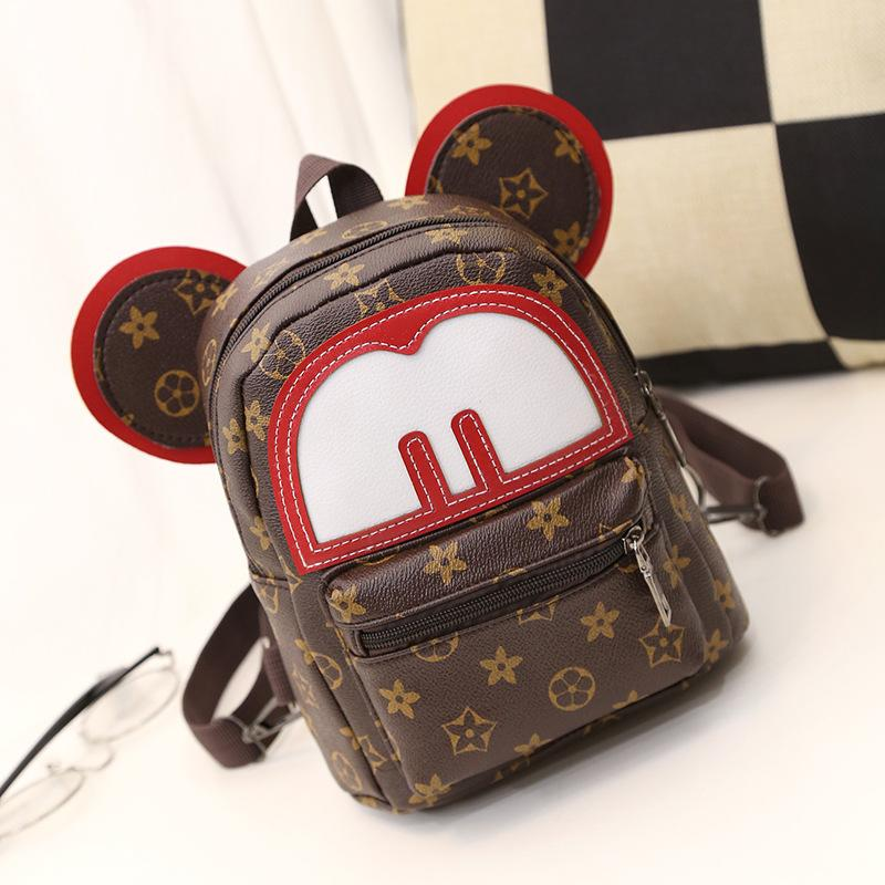 9f7ea0e7aa81 Cute Mickey   Minnie Mouse Leather Backpack - Backpack - ustreetstyle