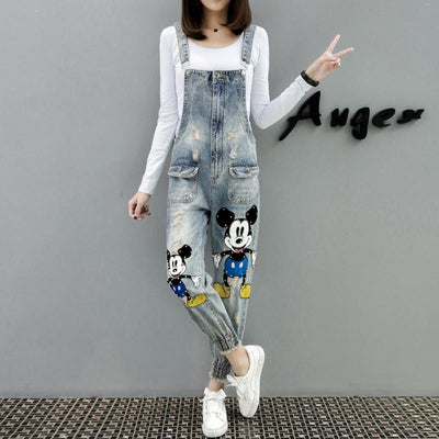 Fashion Mickey Mouse Cotton Overalls -  - ustreetstyle