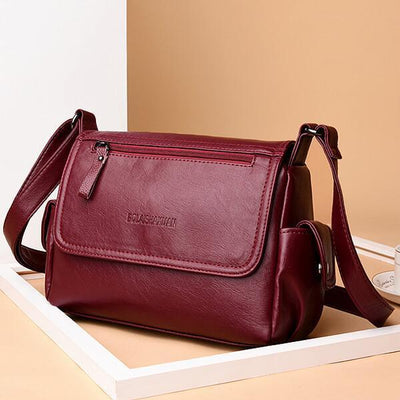 Women Genuine Leather Soft Crossbody Shoulder Bags - Crossbody Bag - ustreetstyle