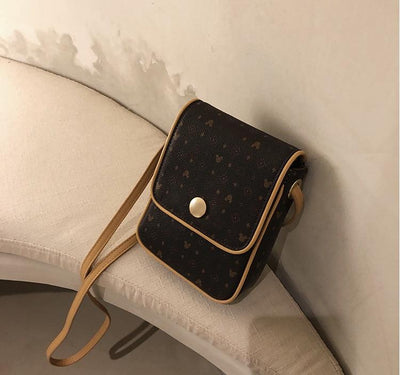 Mickey Classic Leather Crossbody Bag