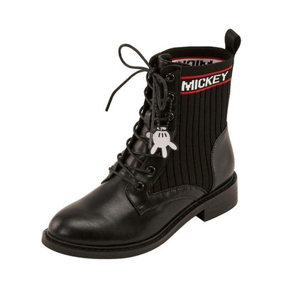 Mickey Mouse Martin Leather Lace-Up Boot