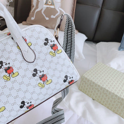 Mickey Style Classic Leather Tote Bag *Limited Edition