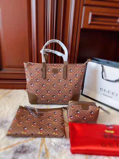 3Pcs Mickey Mouse Leather Bag Sets*Limited Edition