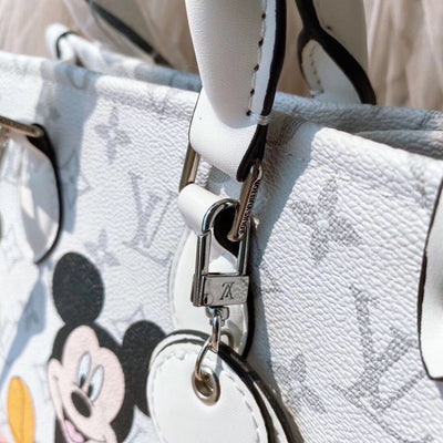 2020 Mickey Vintage White Leather Tote Bag *Limited Edition