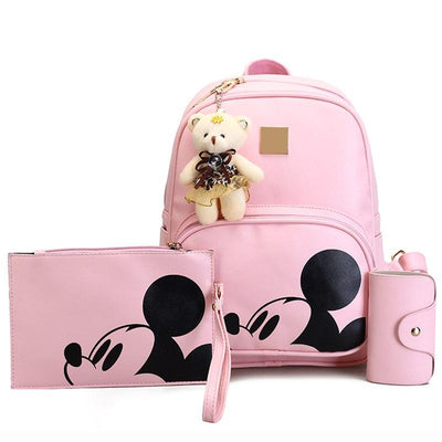 3Pcs/Set Portable Cute Mouse and Bear Composite Backpacks - Backpack - ustreetstyle