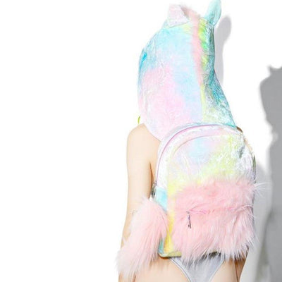 Cute Unicorn-Shaped Cartoon Hologram Backpacks - Backpack - ustreetstyle