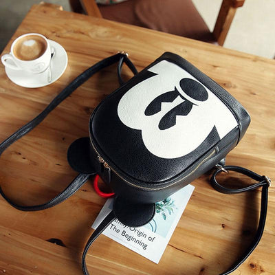Mickey Mouse Style Leather Casual Backpack - Backpack - ustreetstyle