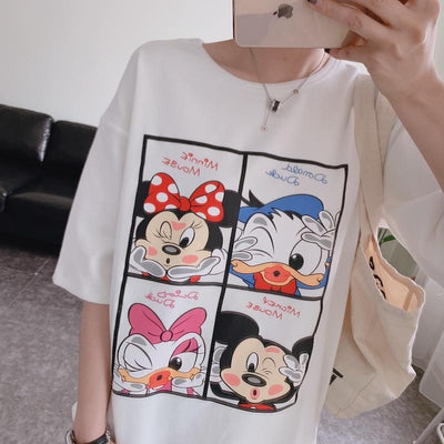 Summer Mickey & Minnie T-Shirt For Girl - Shirt - ustreetstyle