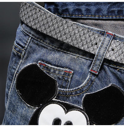 Mickey Mouse Summer Denim Shorts