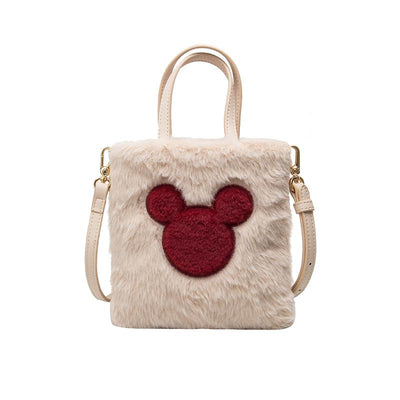 Mickey Mouse Soft Touch Furry Tote *New