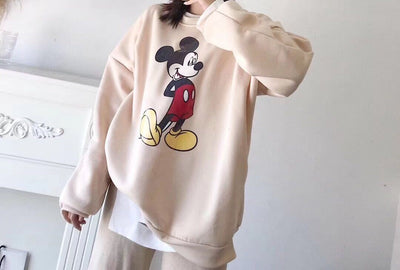Mickey Mouse Fashion Velvet Hoodie