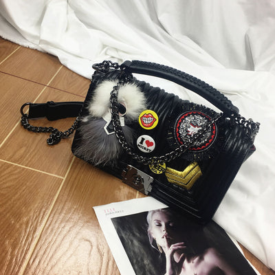 Mickey Mouse Soft Leather Crossbody Bag