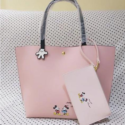 2Pcs/Set Fashion Leather Mickey & Minnie Handbag - Handbag - ustreetstyle