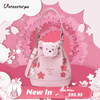 Fashion Winnie Sakura Pink Bucket Bag Cute Shoulder Bag - Handbag - ustreetstyle