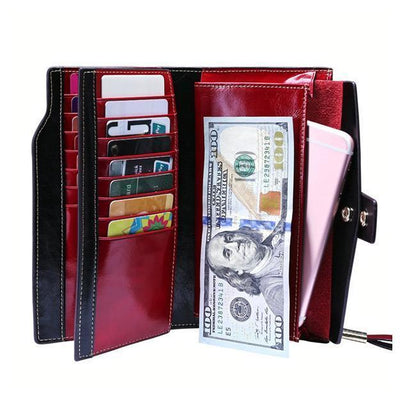 Genuine Leather Purse - Wallets - ustreetstyle