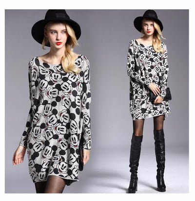 Sweaters Mickey Sleeves Dresses