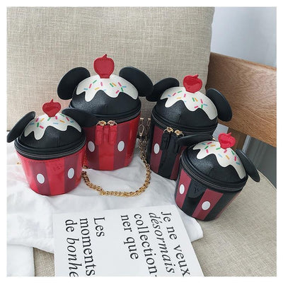 Mickey Ice Cream Chain Leather Bag