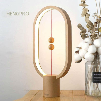 2020 Balance Night Light Portable Ellipse Magnetic Mid-air Switch LED Desk Lamp