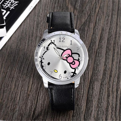 Hello Kitty Wristwatch Leather with Crystal Fashion - Hello Kitty - ustreetstyle