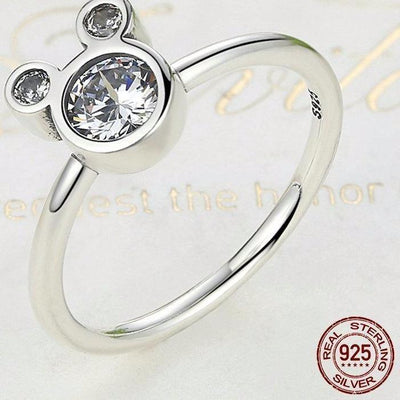 Mickey 925 Sterling Silver Ring - Jewels - ustreetstyle