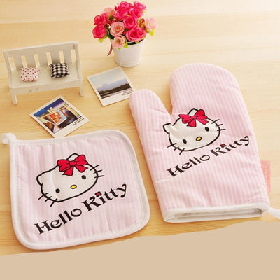 Hello Kitty Kitchen Insulation Gloves & Pads - Hello Kitty - ustreetstyle