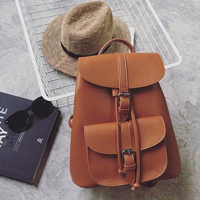 Fashion Female String Leather Backpack - Backpack - ustreetstyle