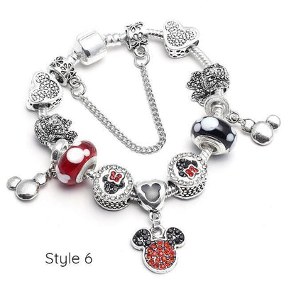 Mickey and Minnie Charm Bracelet -  - ustreetstyle