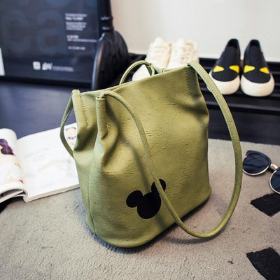 Mickey Leather Bucket Handbag - Handbag - ustreetstyle