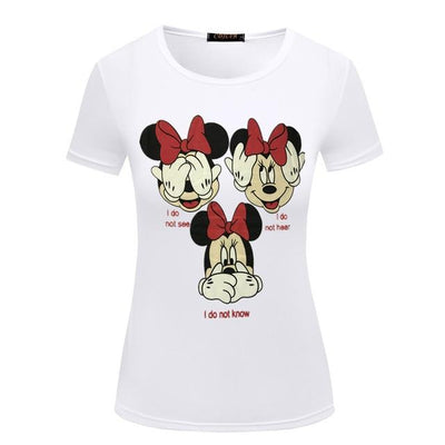 Novelty Summer Woman  Mickey Mouse T-Shirt - shirt - ustreetstyle