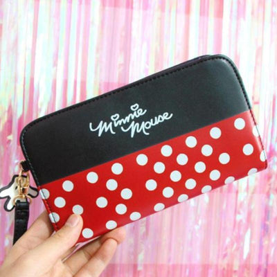 Cartoon Cute Minnie Mickey Leather Wallet Purse - Wallets - ustreetstyle