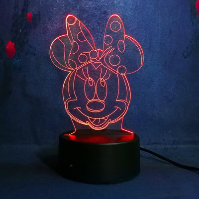 Minnie Mouse Anime Figure 3D Illusion LED Nightlight Luminous 7 Color - Accessories - ustreetstyle