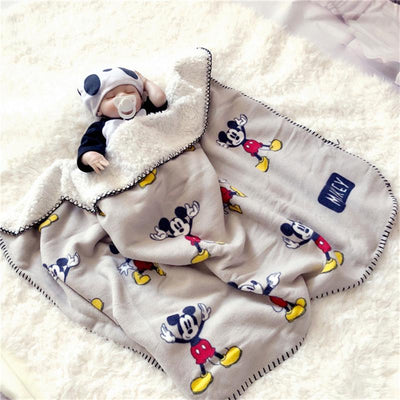 Mickey Mouse Four Seasons Thicken Super Soft Fleece For Kids - Accessories - ustreetstyle