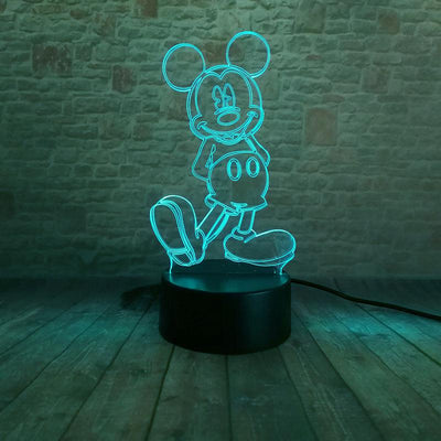 Mickey 3D Illusion LED Nightlight - Accessories - ustreetstyle