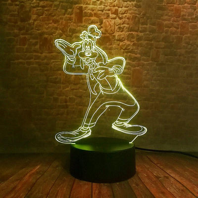 Luminous Goofy Dog Anime Model 3D Illusion Lamp LED 7 Color - Accessories - ustreetstyle